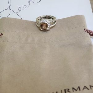 David yurman  Petite Albion morganite  6 ring